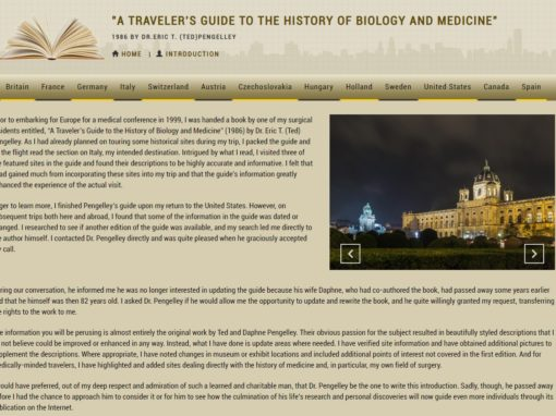 A Traveler's Guide to the History of Biology and Medicine