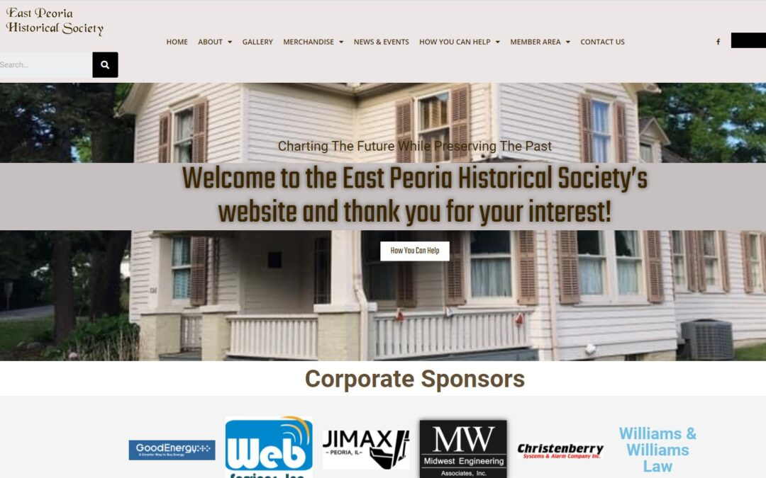 Web Services, Inc. Launches New Website For East Peoria Historical Society